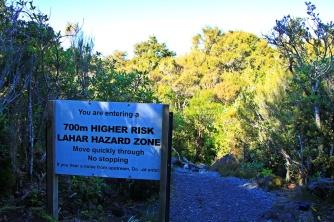Tongariro - hazard zone