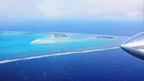 Aitutaki Anflug